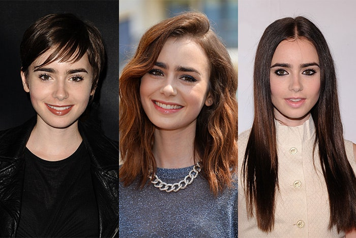 15 Proof That Lily Collins Can Rock Any Hair short