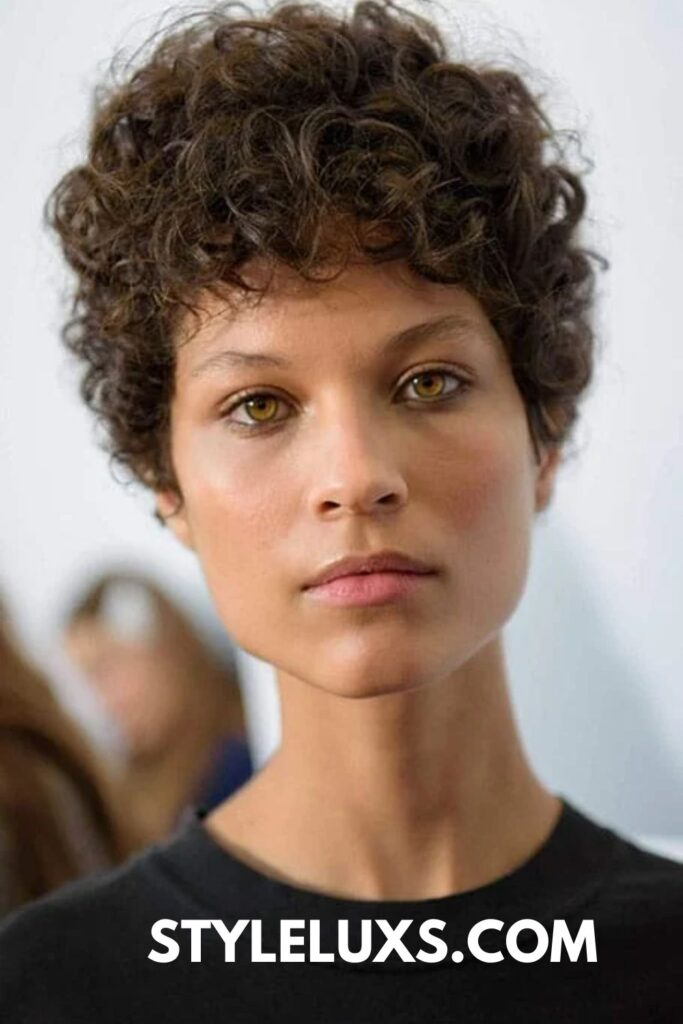 shaved hairstyles for women with curly hair