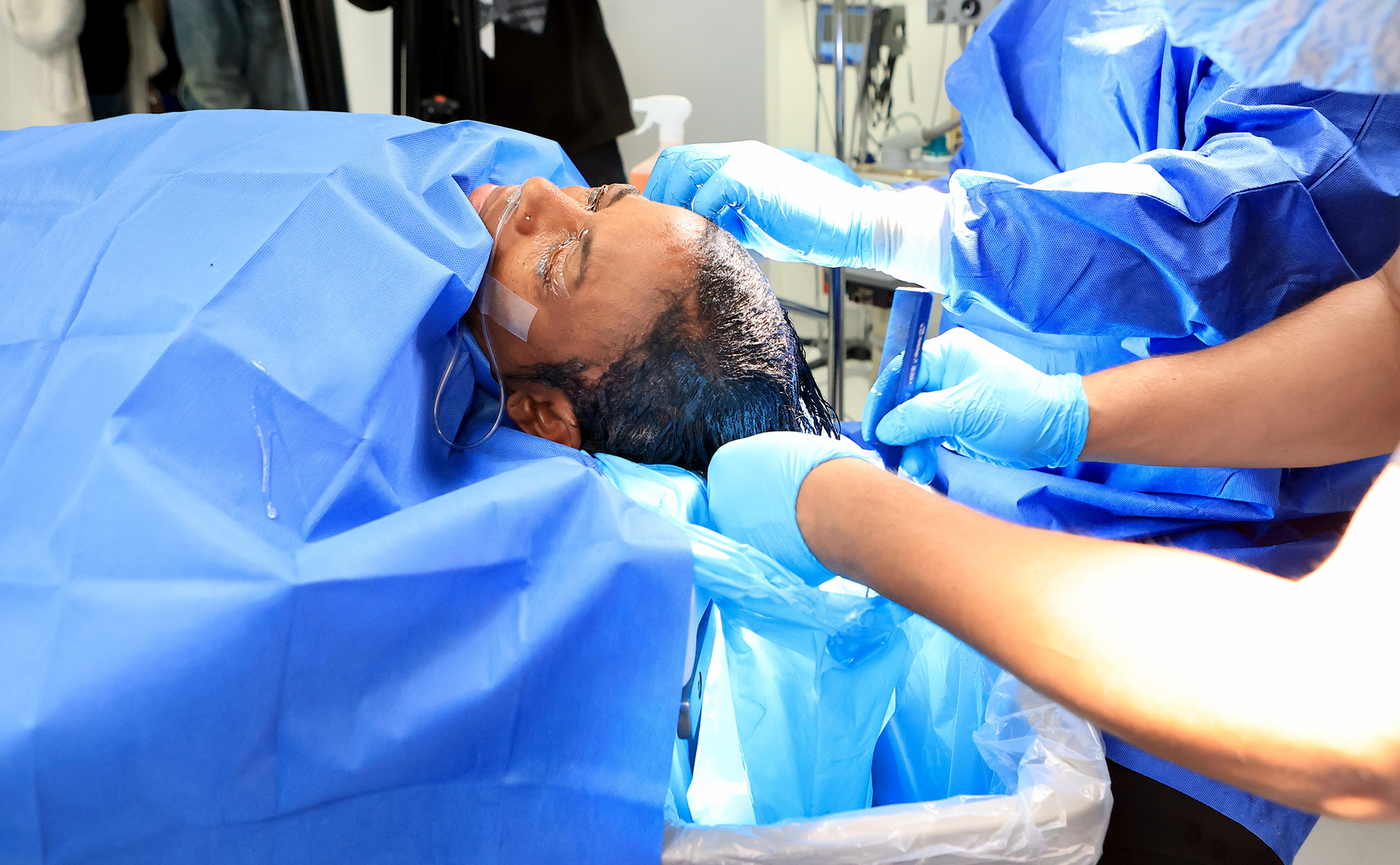 Jessica Brown during surgery|